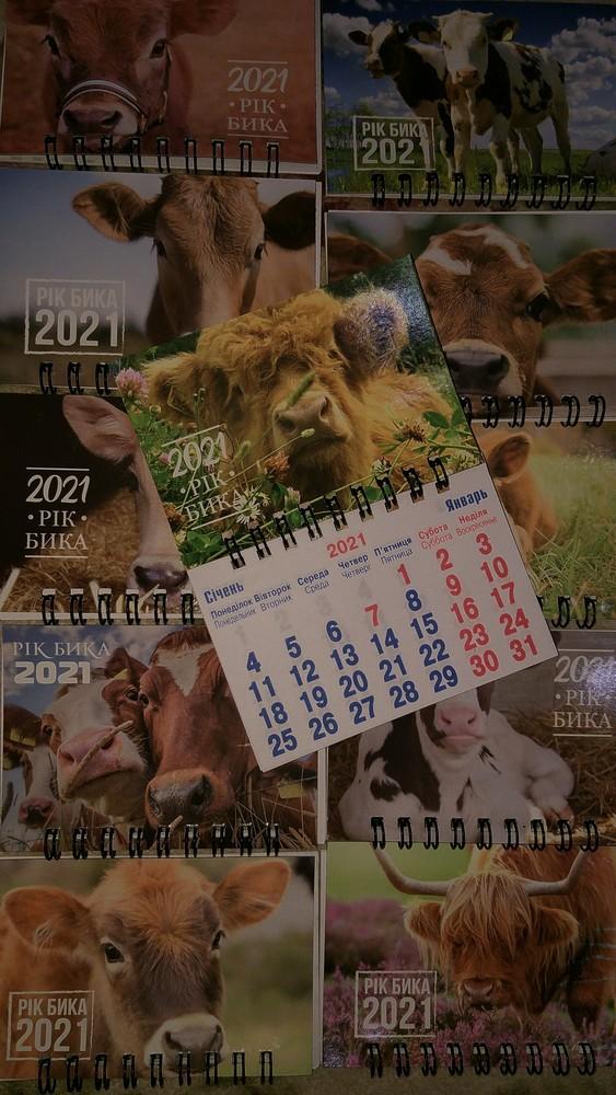 """Календарь магнитный """"год быка"""" на холодильник. 7 видов. лот 1 шт фото №1"""