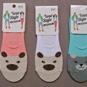 Хлопковые женские супер короткие носочки, следки.