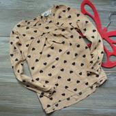 Блуза лонгслив в сердечки H&M (3-4г)-
