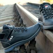 Кожаные зимние кроссовки Fila. Зимние ботинки Fila Фила , крепкие, теплые , стильные