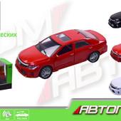 Машинка железная инерционная Toyota Автопром 7814: масштаб 1:32, 3 цвета