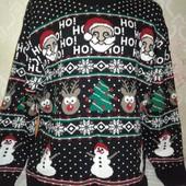 Мужской свитер в новогодний, рождественский рисунок.