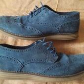 Кожаные фирменные туфли Ask The Missus р.43-28 см.