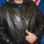 Стильная кожаная фирменная курточка бренд Trapper.л-хл .