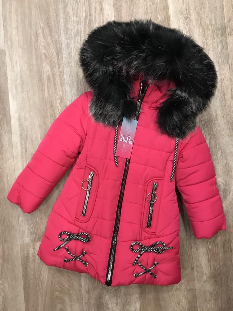 Тёплая, красивая зимняя куртка для девочки фото №1
