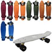 Скейт пенні, алюм. підвіска, колеса ПУ, 6 кольорів. Артикул:MS 0297