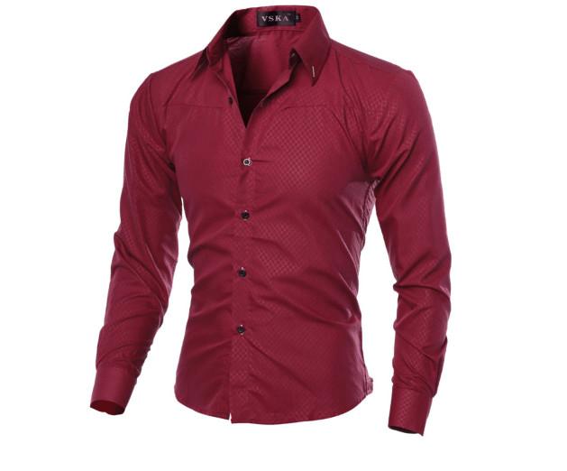 Рубашка стильная приталенная код 1 (красная) фото №1