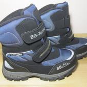 Термо черевики B&G HL197-913 для хлопчика зимові терміки біджи зимние термо ботинки би джи мальчика