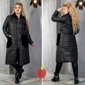 Пальто на змейке  Ткань:синтепон 200,отделка мех