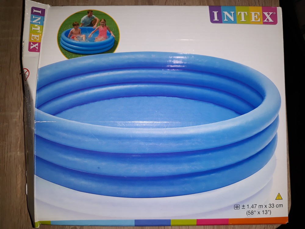 Детский бассейн, надувной голубой intex фото №1