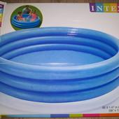 Детский бассейн, надувной голубой Intex