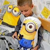 Мягкая декоративная игрушка подушка кукла Миньон для мальчика подарок на день рождения, новый год