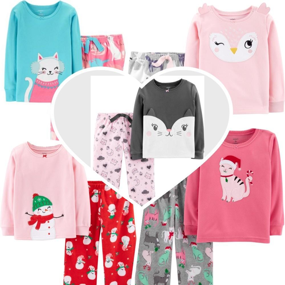 Мягкая флисовая пижама картерс для девочки фото №1