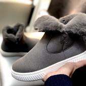 Выкупаю 17/11, если соберём. Ботинки женские, утеплённые. Замш! Остатки 39, 40 (серый) . Мои фото
