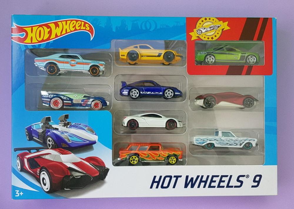 Базовые металлические машинки хот вилс набор из 9 штук mattel hot wheels basic car фото №1
