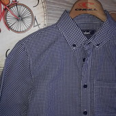 Rebel 146 см Хлопковая стильная рубашка. Сток