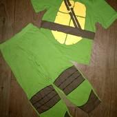 Слип,пижама хлопок Черепашка Ниндзя на 4-5лет(104-110см).