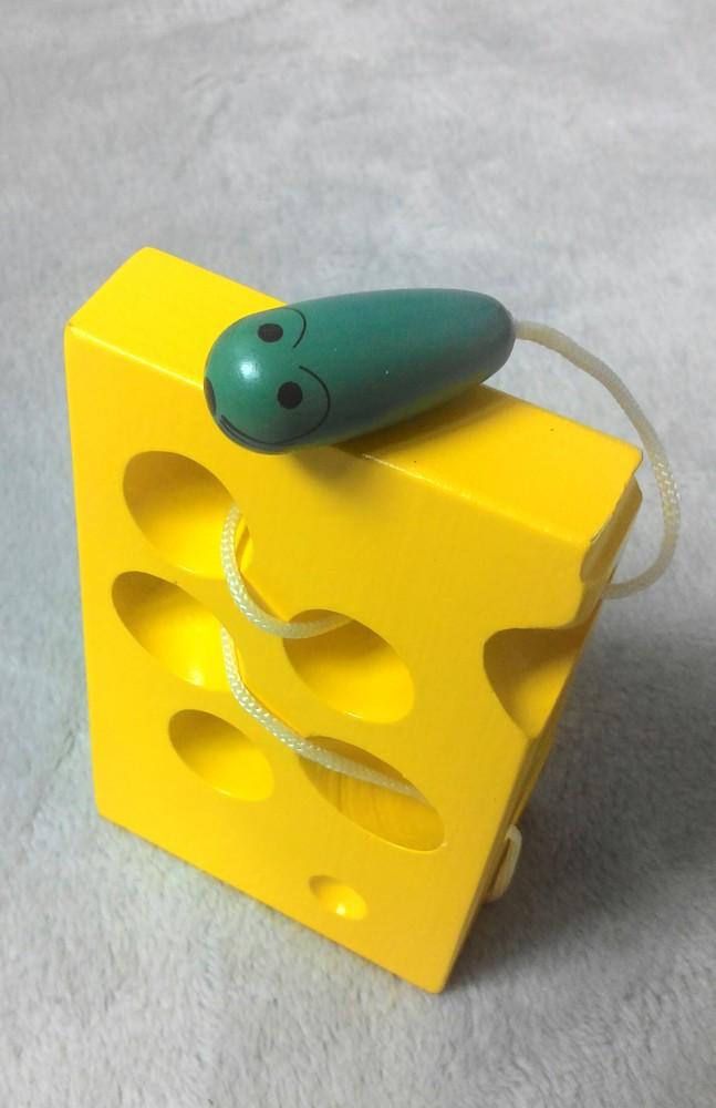Шнуровка сыр+мышка. состояние новой! фото №1