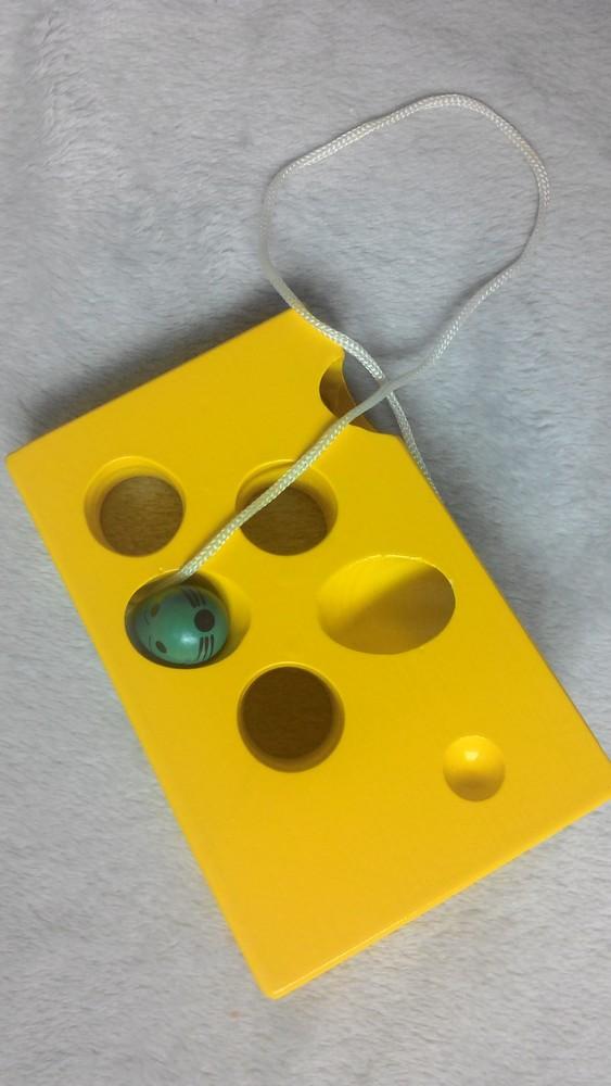 Шнуровка сыр+мышка. состояние новой! фото №2