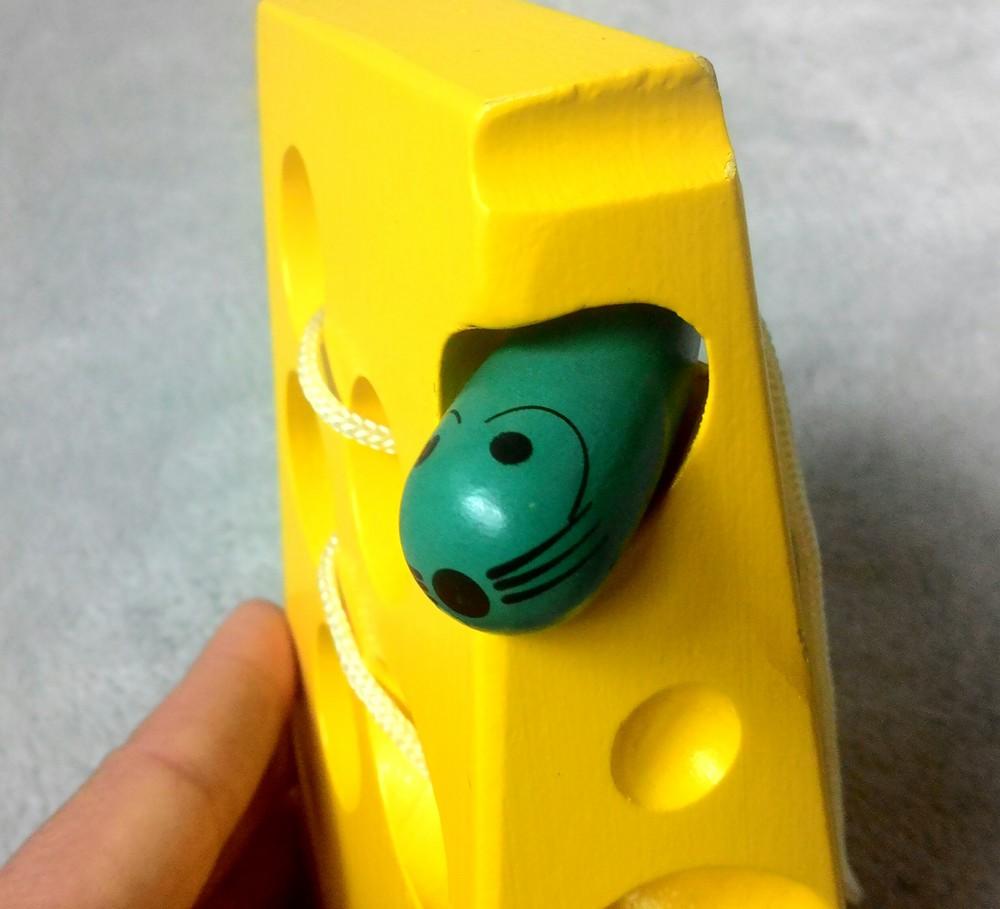 Шнуровка сыр+мышка. состояние новой! фото №3