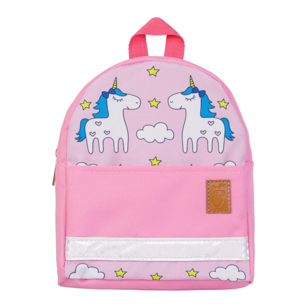 Детский рюкзак единороги розовый/фиолетовый/серый тм zo-zoo фото №1
