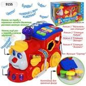 Игрушка сортер Play smartT 9155 Паровозик ту туот батареек.музыка, свет,в коробке24*16*18 см