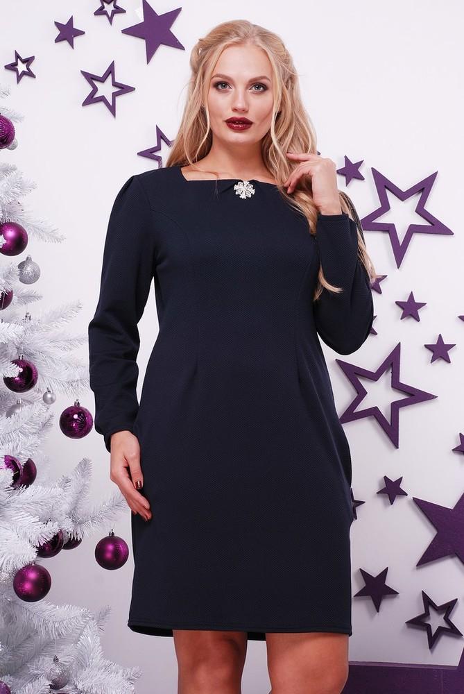Sale! стильное платье больших размеров от 50 до 62, в подарок брошка фото №1