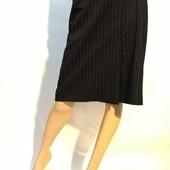 14 UK женская юбка деловой стиль в полоску