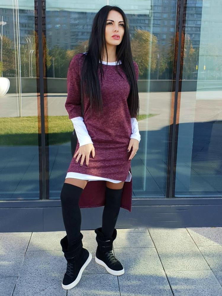 Хит-продаж комплект платье туника красивое,нарядное,удобное,комфортное,теплое фото №1