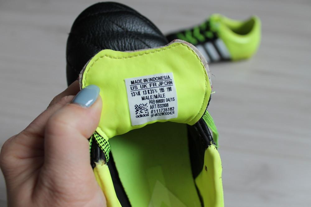 Бутсы adidas оригинал ace 15.3 lth fg\ag b32808 jr фото №10