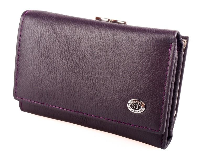 991361186b2e Женский кожаный кошелек st складной цвет фиолетовый в наличии разные модели  фото №1