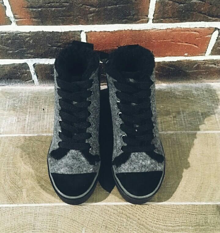 Ботинки кеды зимние войлочные 36-41 р. фото №3