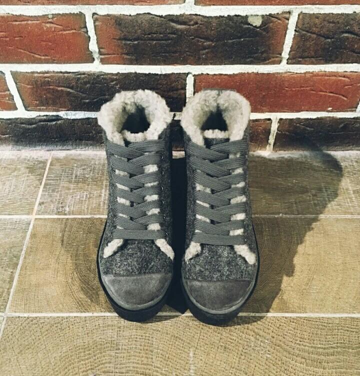 Ботинки кеды зимние войлочные 36-41 р. фото №5