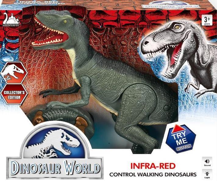 Динозавр тиранозавр на радиоуправлении, большой, ходит, рычит фото №2