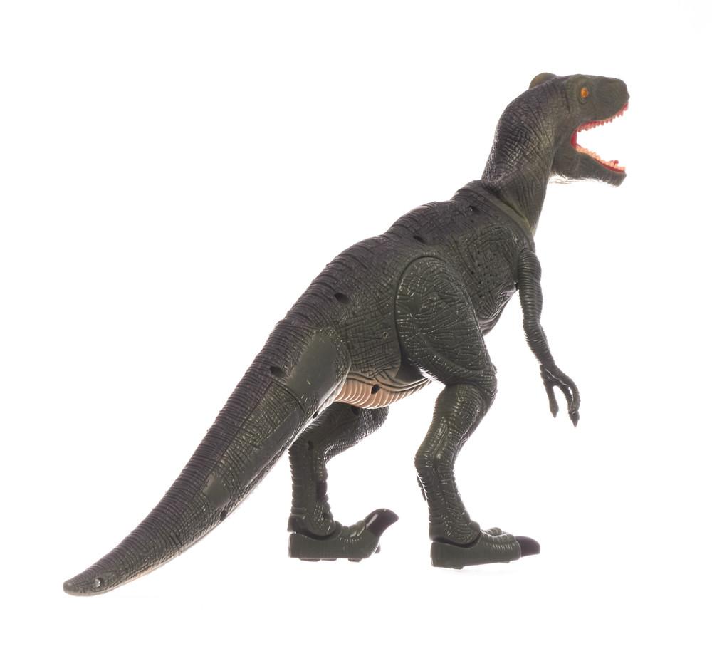 Динозавр тиранозавр на радиоуправлении, большой, ходит, рычит фото №3