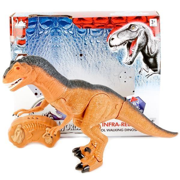 Динозавр тиранозавр на радиоуправлении, большой, ходит, рычит фото №4