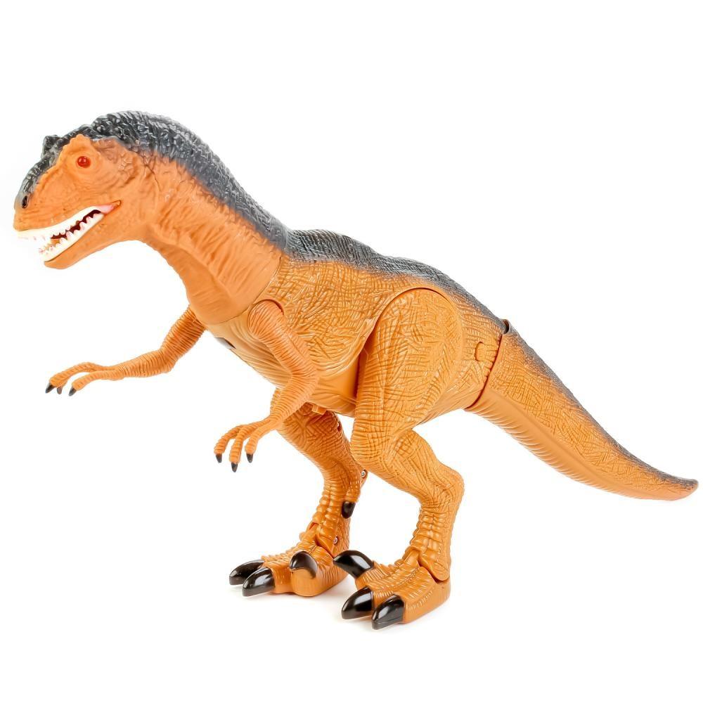 Динозавр тиранозавр на радиоуправлении, большой, ходит, рычит фото №5