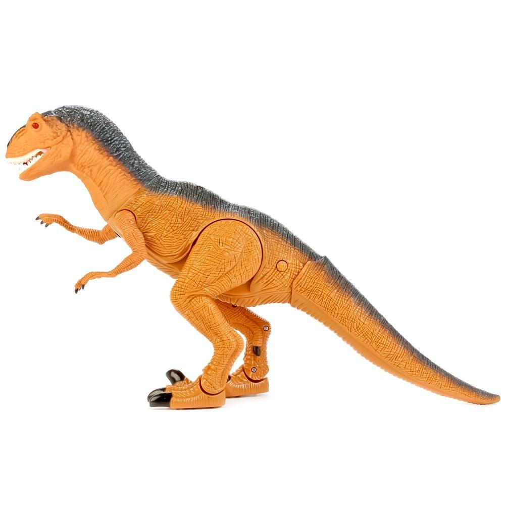 Динозавр тиранозавр на радиоуправлении, большой, ходит, рычит фото №6