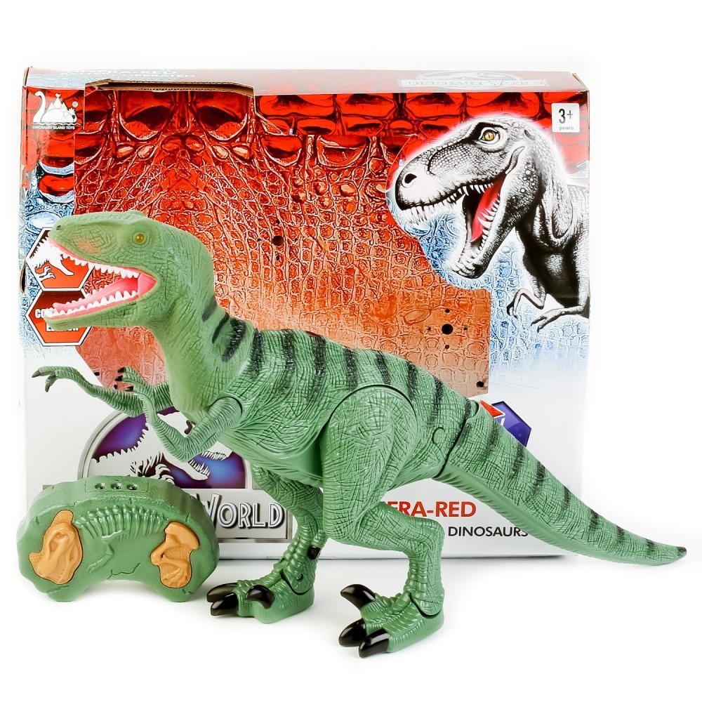 Динозавр тиранозавр на радиоуправлении, большой, ходит, рычит фото №7