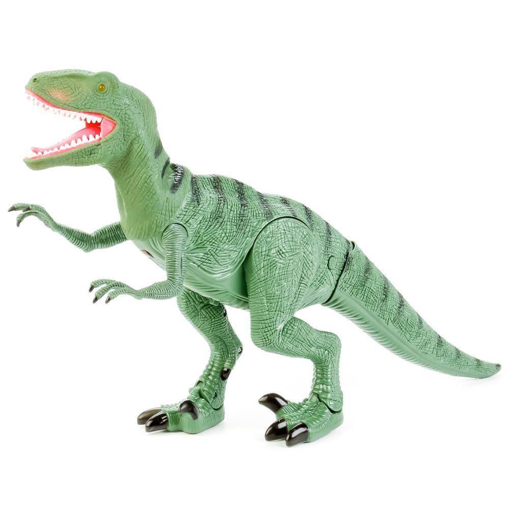 Динозавр тиранозавр на радиоуправлении, большой, ходит, рычит фото №9