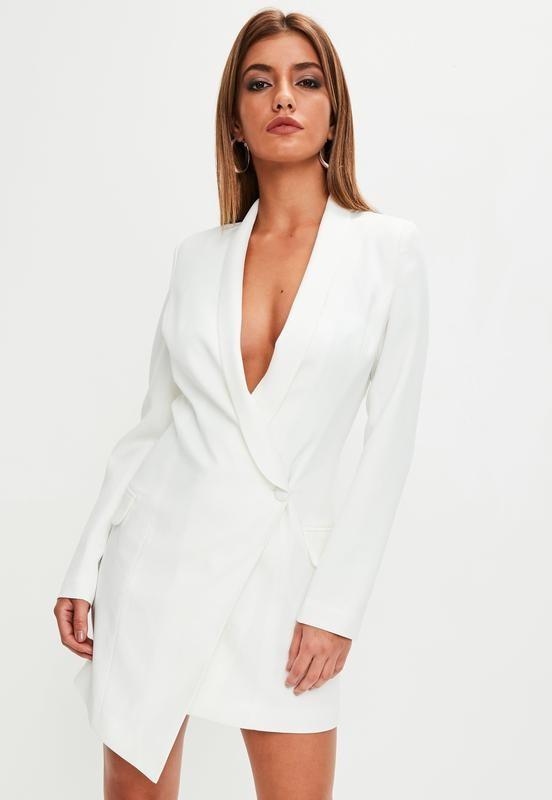 08170e875a2 Ассиметричное платье-пиджак missguided uk10 фото №1