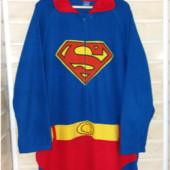 Флисовый слип пижама Супермен р.xl
