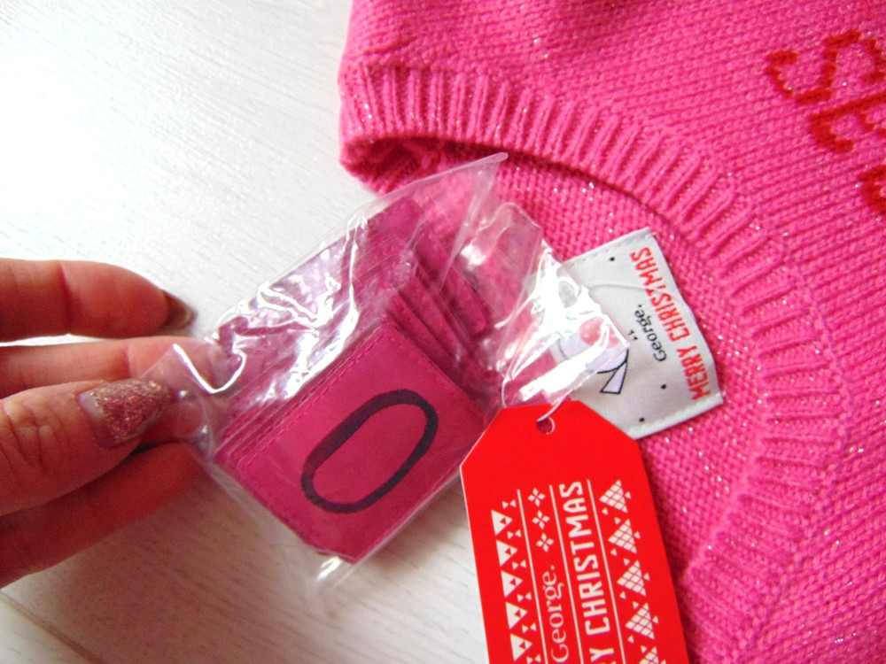 George. размер 3-4 года. новый яркий новогодний свитер для девочки фото №12