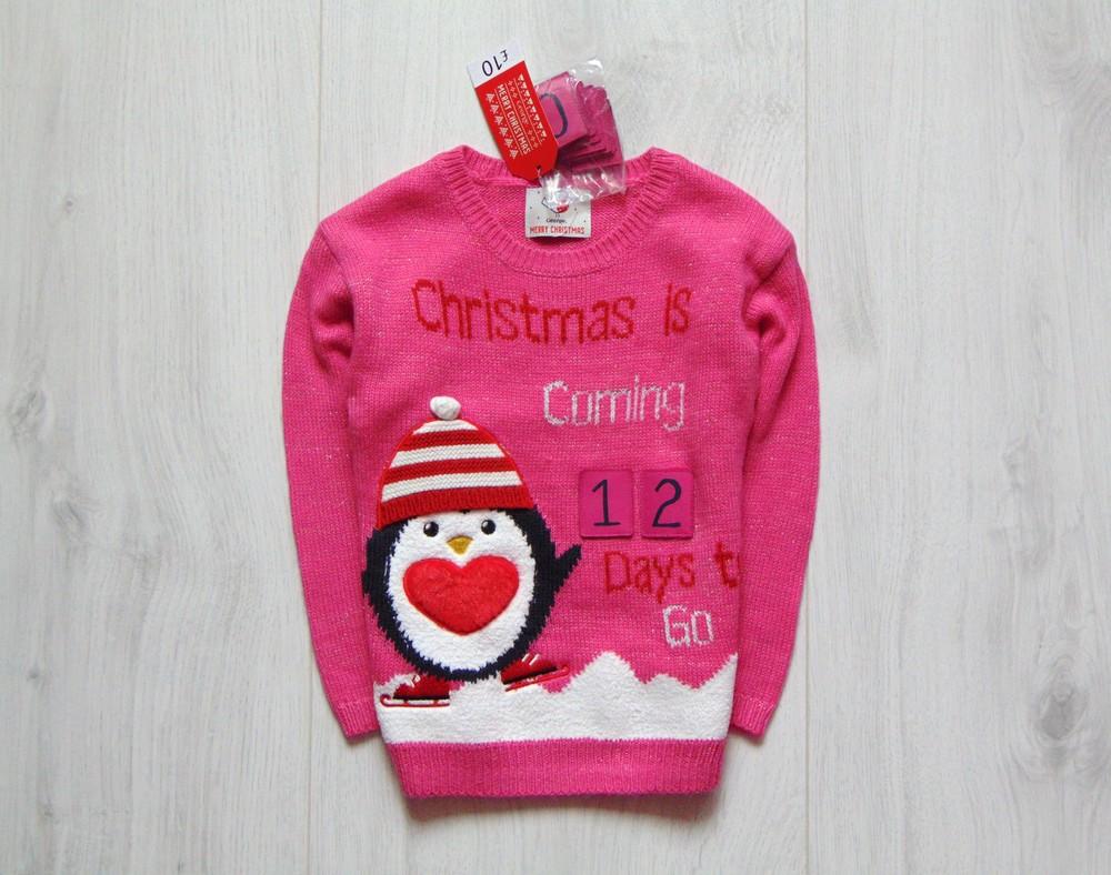 George. размер 3-4 года. новый яркий новогодний свитер для девочки фото №1