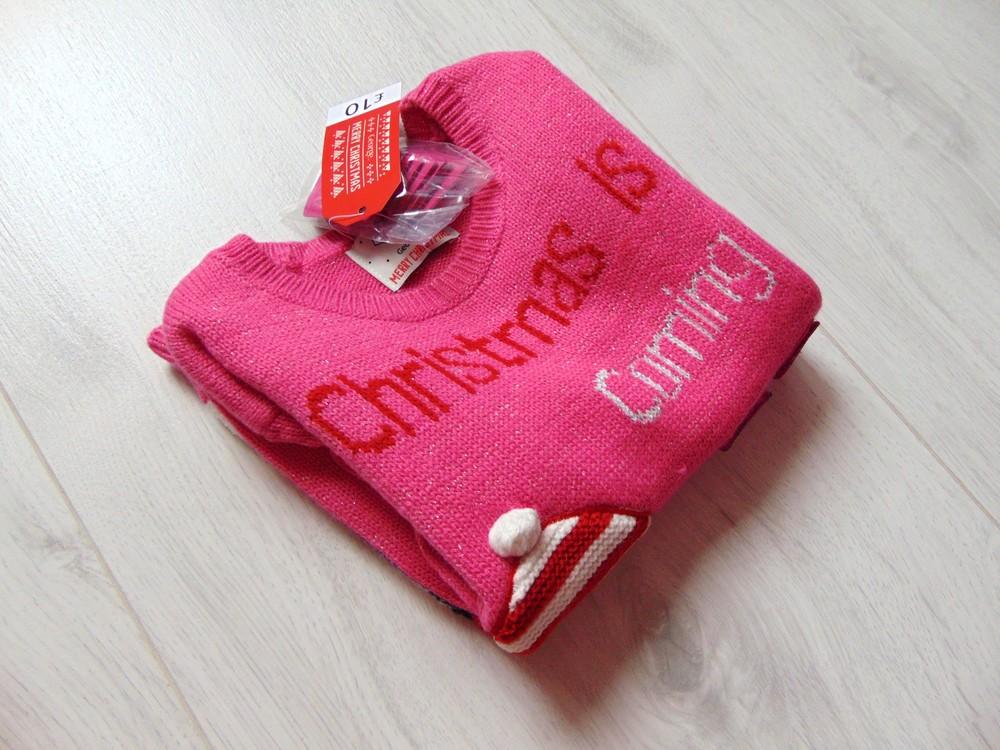 George. размер 3-4 года. новый яркий новогодний свитер для девочки фото №20