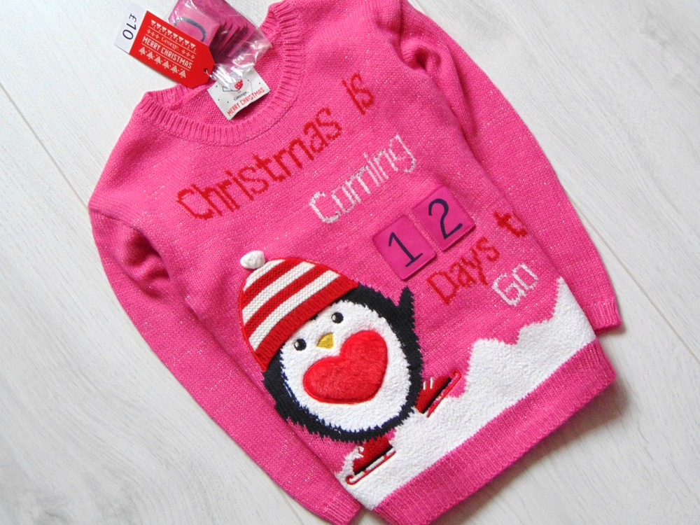 George. размер 3-4 года. новый яркий новогодний свитер для девочки фото №2