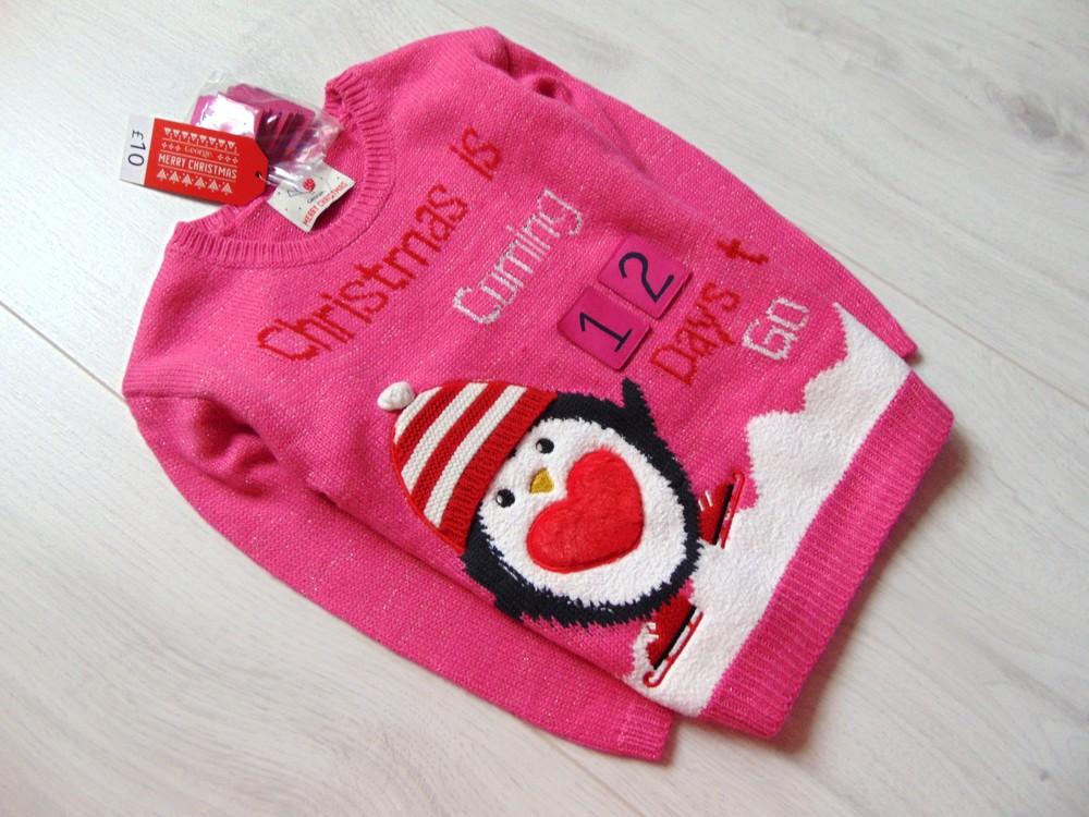 George. размер 3-4 года. новый яркий новогодний свитер для девочки фото №3