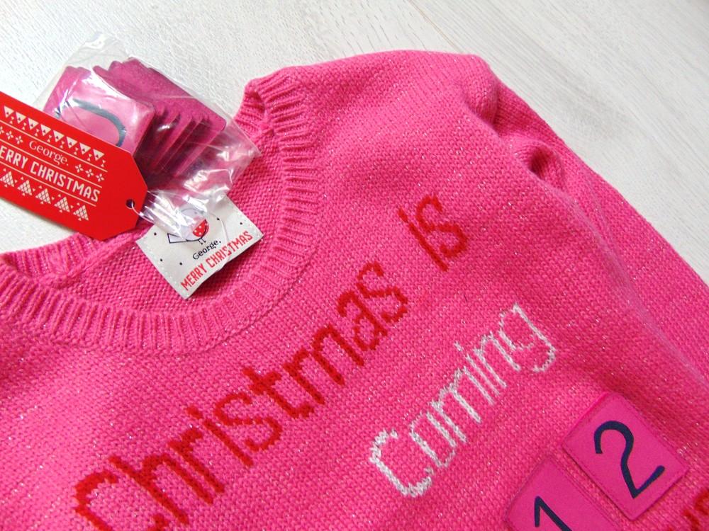 George. размер 3-4 года. новый яркий новогодний свитер для девочки фото №4