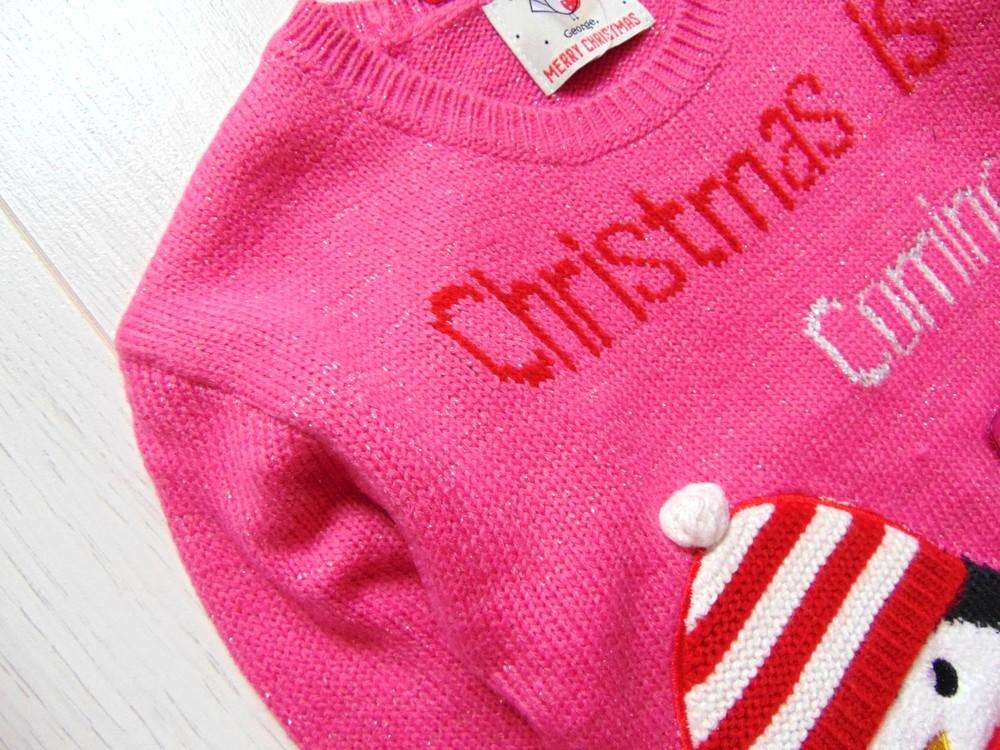 George. размер 3-4 года. новый яркий новогодний свитер для девочки фото №6