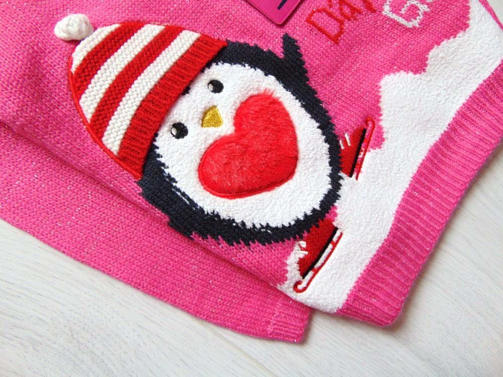 George. размер 3-4 года. новый яркий новогодний свитер для девочки фото №7